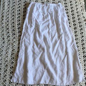 J Jill White Linen Skirt